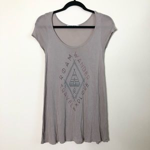 Project Social T wanderer graphic tunic top